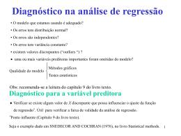 Diagnóstico na análise de regressão