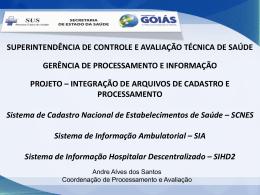 Gerência de Processamento e Informação
