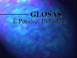 Palestra - Glosas - JBernardes Consultoria