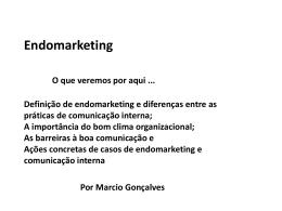 Endomarketing e Comunicação interna