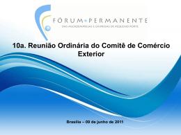 Apresentação 10ª Reunião Ordinária