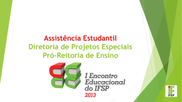 08_DPE_Assistencia Estudantil _ Encontro Educacional - IFSP-PRC