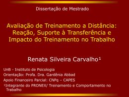Renata Carvalho - defesa de dissertação