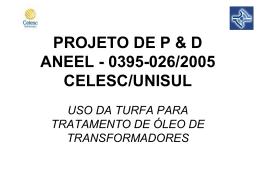 PROJETO DE P & D 0395-026-2005
