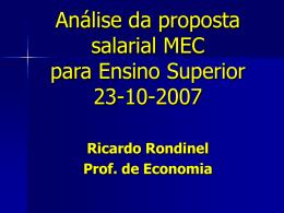 Alternativas de política econômica para o Brasil