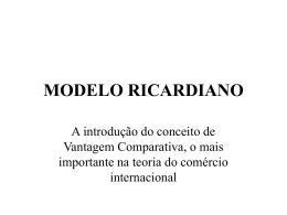 MODELO RICARDIANO - Moodle USP do Stoa