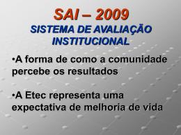 sai – sistema de avaliação institucional- 2004