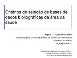 Criterios de selección de revistas en bases de datos