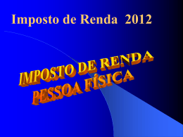Palestra Imposto de Renda 2012