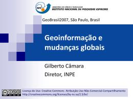 Geoinformação e Mudanças Globais - DPI