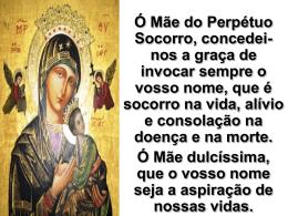Segunda oração - Paróquia Nossa Senhora do Perpétuo Socorro