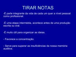 TIRAR NOTAS