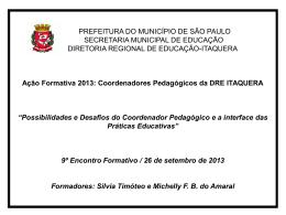 Apresentação EJA - Secretaria Municipal de Educação