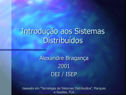 Introdução aos Sistemas Distribuidos