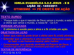 IGREJA EVANGÉLICA SOS JESUS - EB LIÇÃO 02