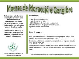 Mousse de maracujá e gengibre