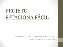 Projeto Estaciona Fácil