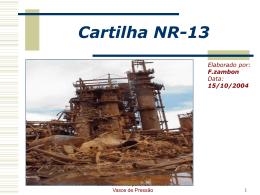 Cartilha NR-13.