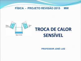 Calorímetro - Professor José Luiz