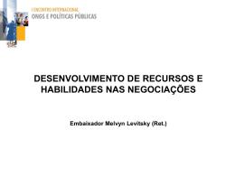 Desenvolvimento de Recursos e Habilidades nas Negociações