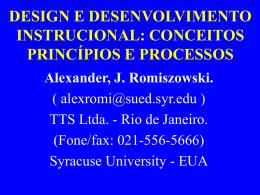 DESIGN E DESENVOLVIMENTO INSTRUCIONAL