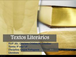 aula 1 – textos literários – 9º ano