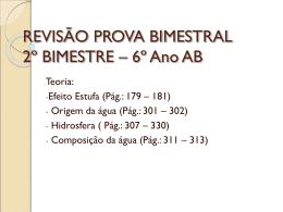 REVISÃO PROVA BIMESTRAL 2º BIMESTRE