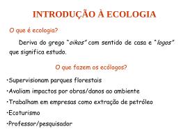 historico da ecologia