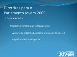 Diretrizes para o Parlamento Jovem 2009