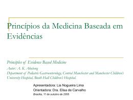 Princípios da Medicina Baseada em Evidências