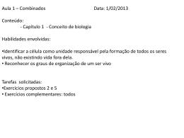 01 - Profº Fernanda - Biologia