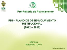 Apresentação PDI e PPI - plano de desenvolvimento institucional