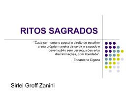 RITOS SAGRADOS - Ensino Religioso