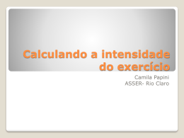 2 - Calculando a intensidade do exercício - FTP