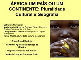 ÁFRICA UM PAÍS OU UM CONTINENTE
