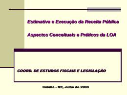 Processo de Previsão das Receitas Públicas