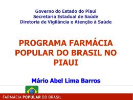 Apresentação: Farmácia Popular do Brasil no Piauí