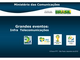 Grandes eventos - Telecomunicações