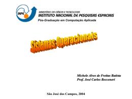 Sistemas Operacionais Distribuídos (Michele)