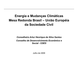 Energia e Política Externa Brasileira