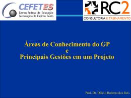 Áreas de conhecimento do GP