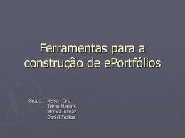Ferramentas para a construção de ePortfólios