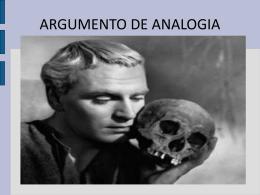 ARGUMENTO DE ANALOGIA