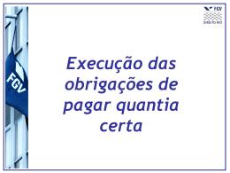 Aula 5: Execução da obrigação de pagar quantia