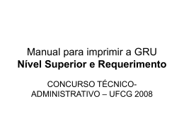 Manual para imprimir a GRU - Universidade Federal de Campina