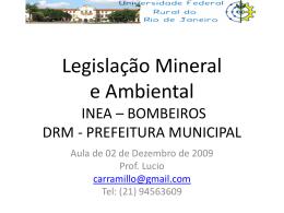 Legislação Mineral e Ambiental DNPM – INEA
