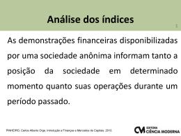 Capitulo 3 - Carlos Pinheiro - Quando o assunto é finanças