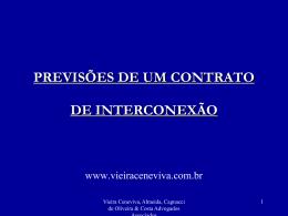 previsões de um contrato de interconexão