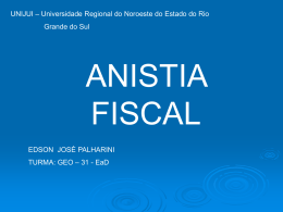 Anistia Fiscal - Capital Social Sul