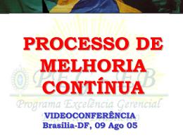 Videoconferência: Processo de Melhoria Contínua e